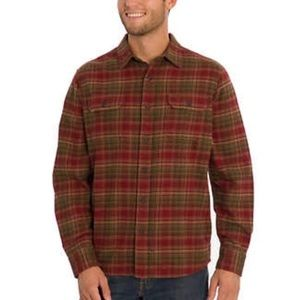 NWT ORVIS BIG BEAR FLANNEL RED GREEN BROWN